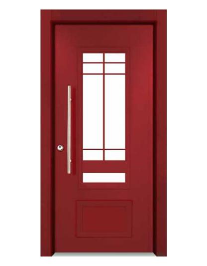 דלת-7020-אדום-SUPREME - דלתות פלדה