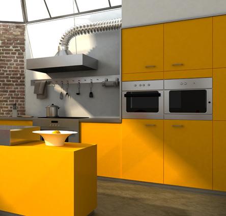 מטבח צבעוני