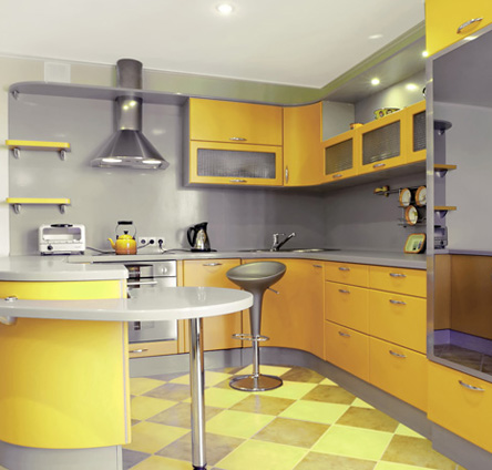 מטבח צהוב